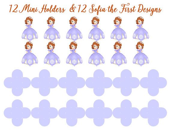 SOFIA THE FIRST Dessert Holders Sofia the First Party Decor