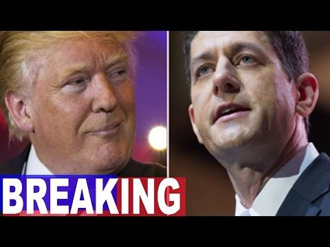 """BREAKING: Trump Issues 6-Word """"Death Sentence"""" for Paul Ryan. Millions Agree! - YouTube"""