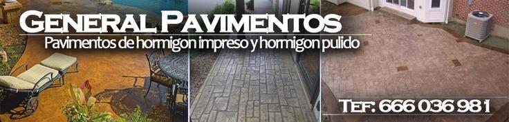Pavimentos de hormigon impreso en Alicante.