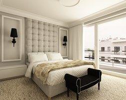 APARTAMENT NA GOCŁAWIU 120 m2 - Średnia sypialnia małżeńska z balkonem / tarasem, styl klasyczny - zdjęcie od design me too