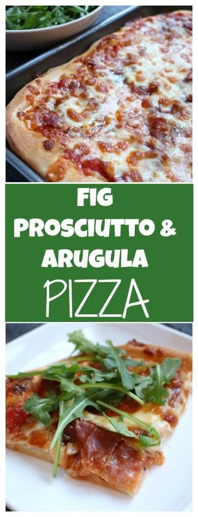 Fig, Prosciutto, and Arugula Pizza is simple yet gourmet! Wow your family on pizza night with this delicious and unique flavor combination. @MomNutrition