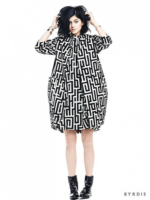 Kylie Jenner looks like a mega babe in Lisa Perry's Maze Pod Coat // Editorial for @byrdiebeauty