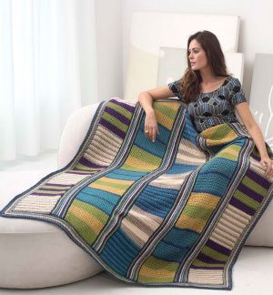 Image of Stripe It Rich Afghan
