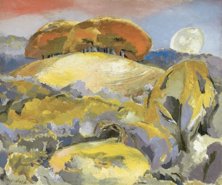 Paul Nash, Landscape of the Moon's Last Phase, 1944, Oil on canvas Walker Art Gallery (Liverpool) Paul Nash © Tate