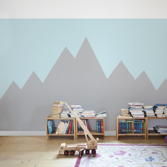 Breit Gestreifte Tapeten : Kindertapete – #Vliestapete – #Berg – #Kinderzimmer Fototapete Breit