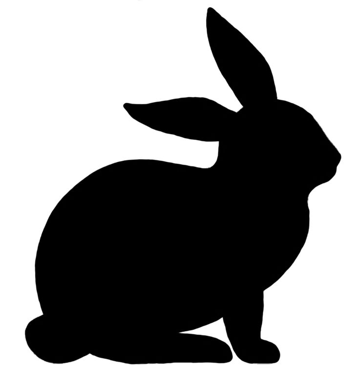 rabbit silhouette - Google Search