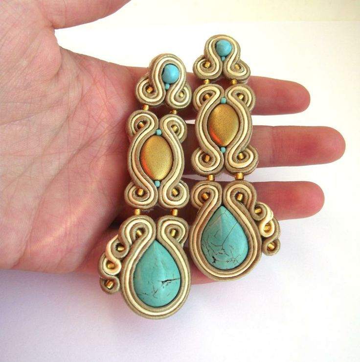 I'm pretty sure this is a polymer clay interpretation of soutache