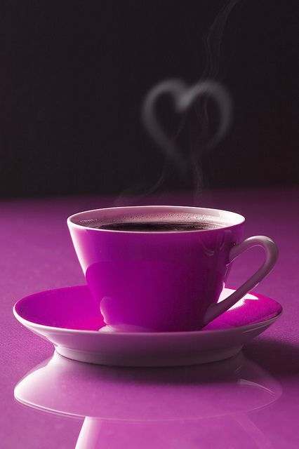 <3 Coffee!: Teas Time, Color, Coff Lovers, Coff Time, Coffee, Cups Of Coff, Mornings Coff, Coff Cups, Purple Passionate