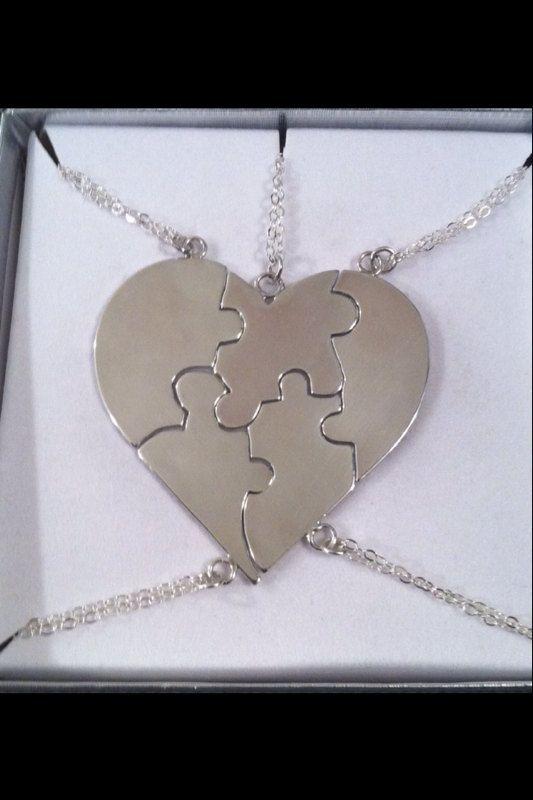 Necklace A Piece Of My Heart  Sterling by CopperfoxGemsJewelry. You choose the number of puzzle pieces.