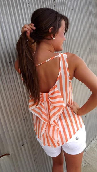 Orange Sherbet Bow Tank