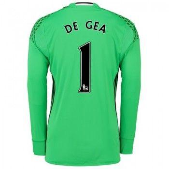 Manchester United 16-17 Målvakt David de Gea 1 Hemmatröja Långärmad   #Billiga  #fotbollströjor