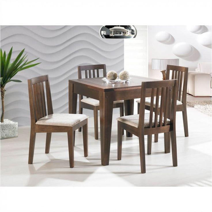 Conjunto Girassol - Mesa de Jantar 80x80 + 4 Cadeiras - Tommy DesignO Conjunto Girassol é uma ótima opção para quem adora decorar a casa com muito design e charme. Seu design com linhas retas proporcionam um visual muito bonito e elegante. As cadeiras Girassol ainda garantem mais aconchego e bem-est