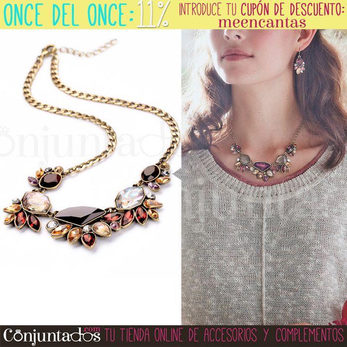 Así de guapa lucirás con el collar Amber con cristales de colores. Recuerda usar tu código de descuento: meencantas ★ Precio: 17,95 € en http://www.conjuntados.com/es/collar-amber-con-cristales-de-colores.html ★ #novedades #collar #necklace #diseño #joyitas #bijoux #estilo #accesorios #complementos #moda #style #GustosParaTodas #ParaTodosLosGustos #chic #luxe #love