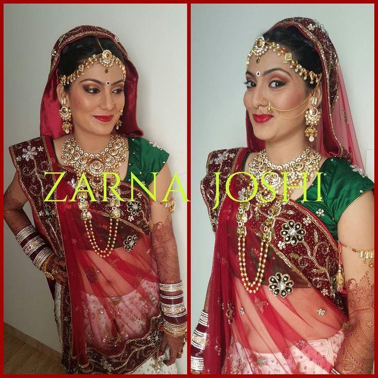 My work  #zarnabridalworld #bridalmakeover #indianbrides #bridalhairstylist #makeupartist by bridal_makeover_by_zarna_joshi