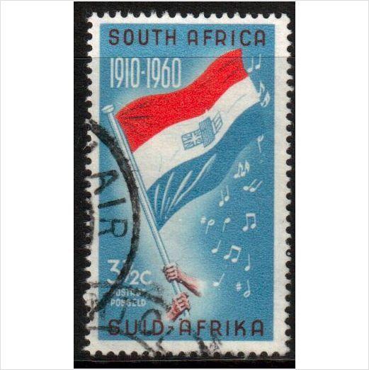 South Africa Scott 246 - SG190, 1961 Flag 3.1/2c used stamps sur le France de eBid