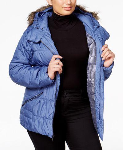 Columbia Plus Size Sparks Lake Faux-Fur-Trim Puffer Jacket - Jackets & Blazers - Plus Sizes - Macy's
