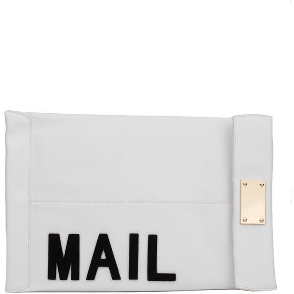 AKIRA You've Got Mail Clutch - White ($30) ❤ liked on Polyvore featuring bags, handbags, clutches, white, clear purse, white clutches, imitation handbags, imitation purses and clear clutches