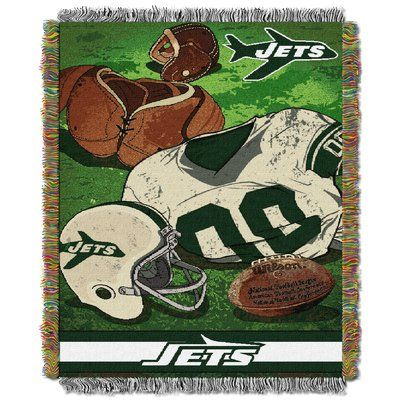 Northwest Co. NFL Jets Vintage Tapestry Throw