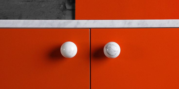 Marble knobs from Superfront.com