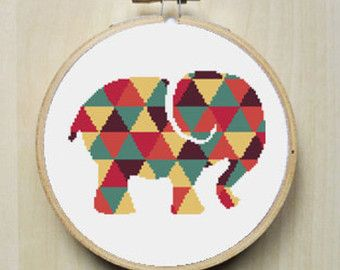 Modern Counted Cross Stitch Pattern by RhiannonsCrossStitch
