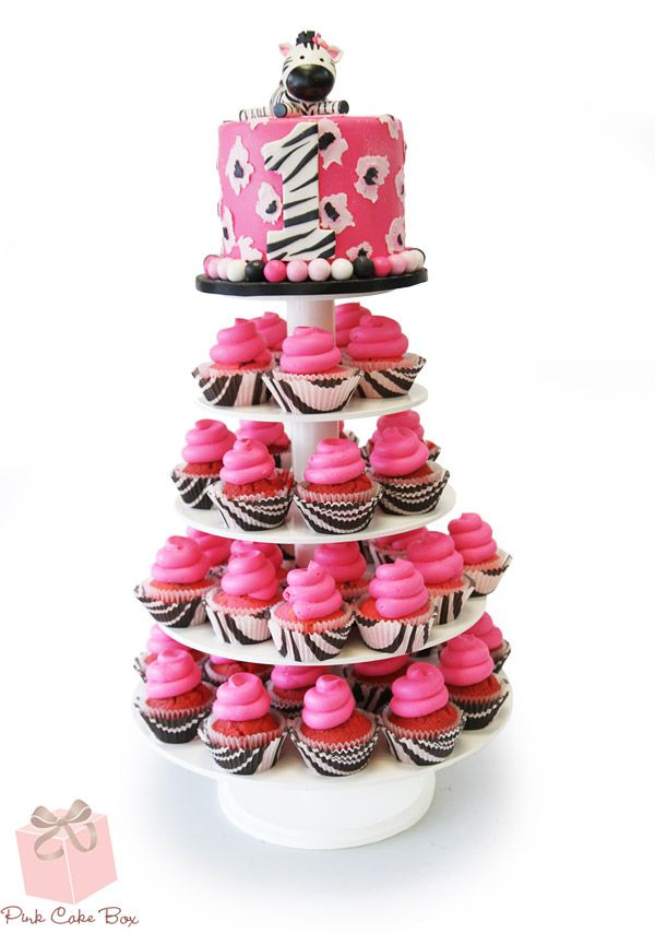 Zebra Print Cupcake Stand by Pink Cake Box