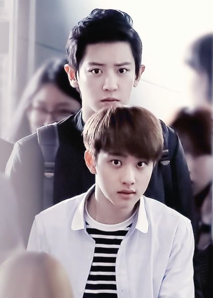 it is a good for #chanyeol to be right behind #D.O :)) *diffrence  in Height appears perfectly :D