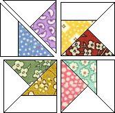 "Pinwheel block tutorial - this makes a 10"" block"