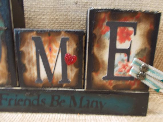 WELCOME Word Block Sign by ktuschel on Etsy