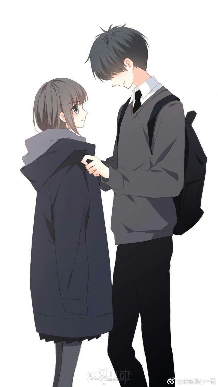 Wallpaper Pasangan Animasi Gadis Animasi Gambar