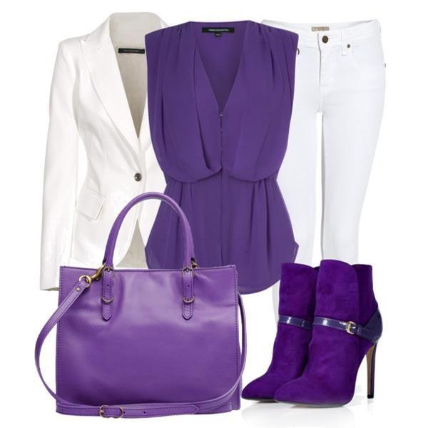 Фиолетовая обувь сапоги