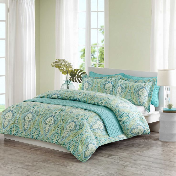 echo design kelly paisley quilt mini set in aqua multi bed bath beyond - Multi Bedroom Decor