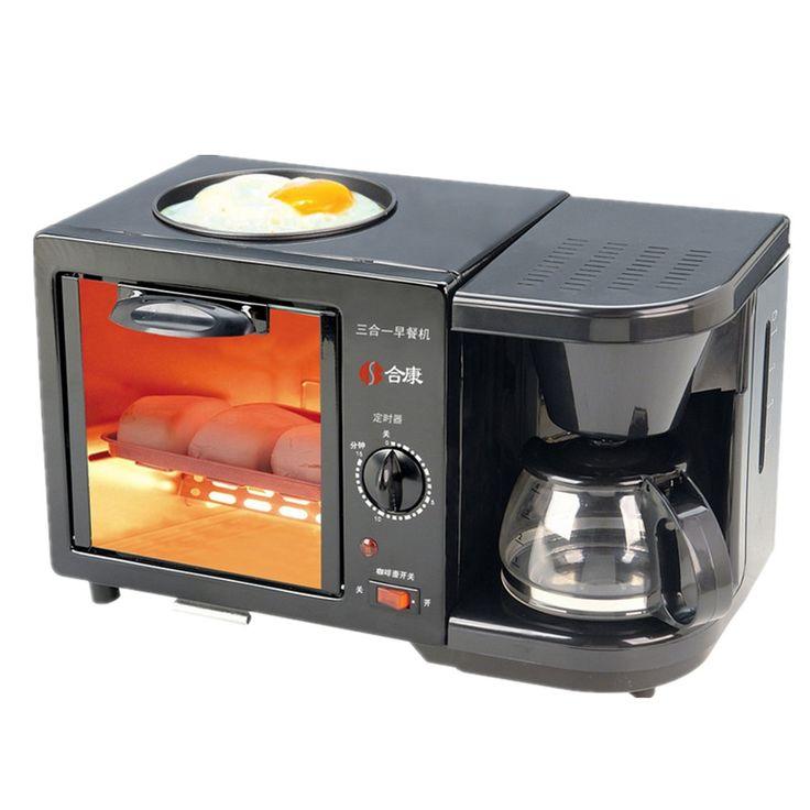 3 in 1 mesin coffee drip mini oven fry pan tetes suhu pemanas tetap hangat dapur DIY easybreakfast