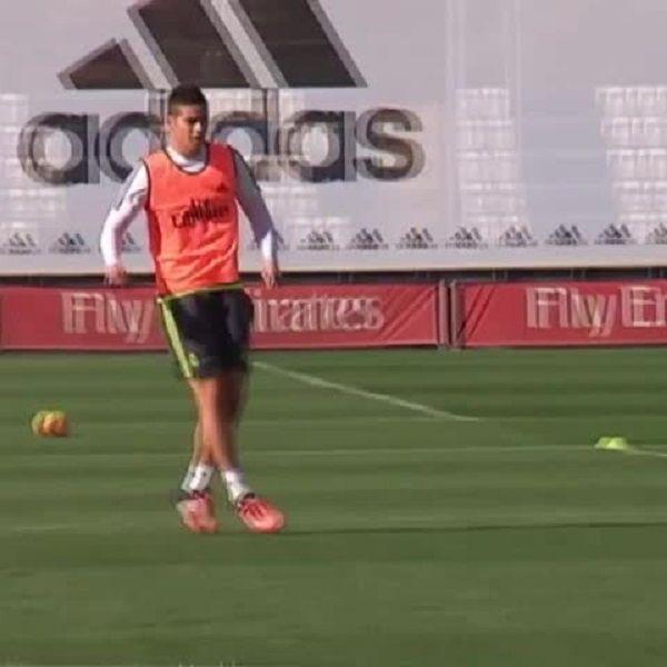 Enzo Zidane został ośmieszony przez Kolumbijczyka • James Rodriguez przedziurawił Enzo podczas treningu Realu Madryt • Zobacz film >> #james #real #realmadrid #football #soccer #sports #pilkanozna