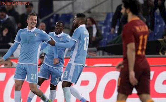For first time in four years, Lazio beat Roma in first leg of Italian Cup semis