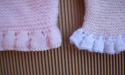 puntillas punto dos agujas, knit edge