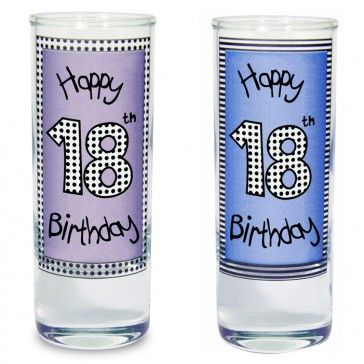 18th birthday present ideas, unique 18th gift shot glasses personalised http://www.personalise.co.uk/18th-birthday-shot-glass