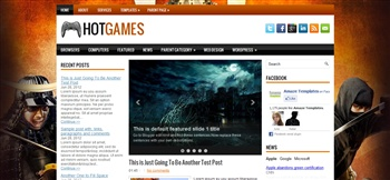 Hotgames Blogger Template | Blogger Templates