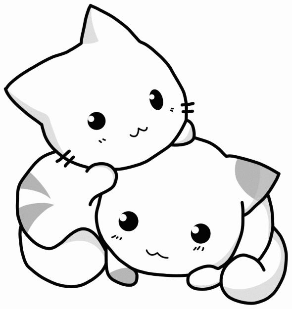 Cute Animal Coloring Pages Adult Coloring Pages Kitten Drawing