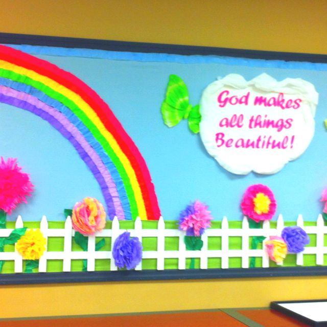 Spring bulletin board-I'm finding a lot of things for Spring,lol...