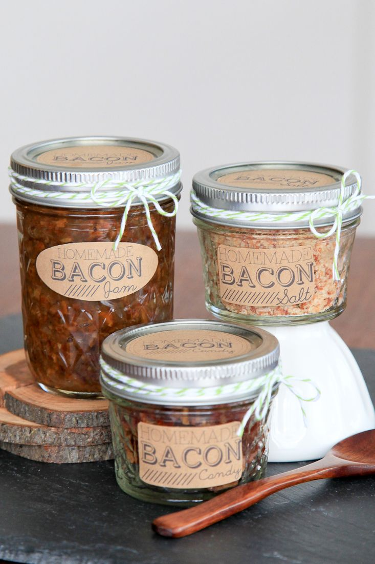 DIY Bacon gifts: bacon jam, bacon salt, and bacon candy | Snixy Kitchen