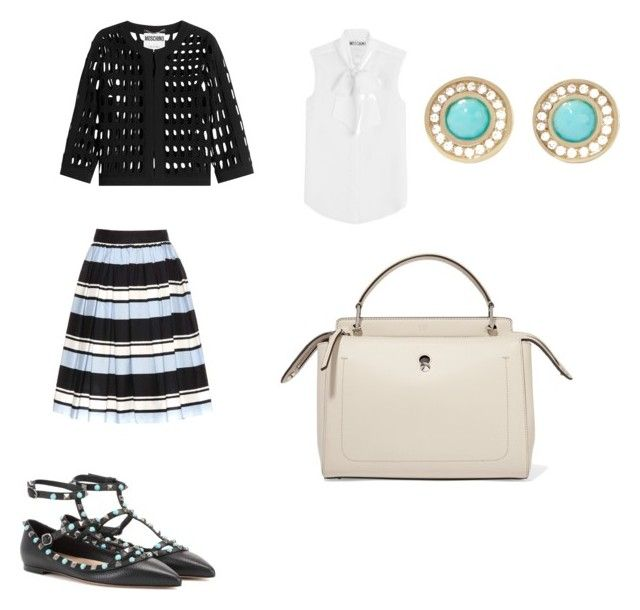 Spring work outfit by the925editor on Polyvore featuring Moschino, Dolce&Gabbana, Valentino, Fendi and Ippolita
