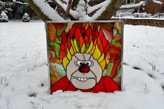 "Heat Miser from ""The Year Without Santa Claus"" by StayCsStainedGlass"