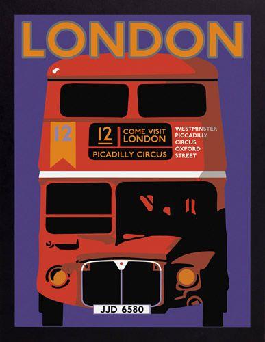 International Vintage Canvas Prints Countries - London