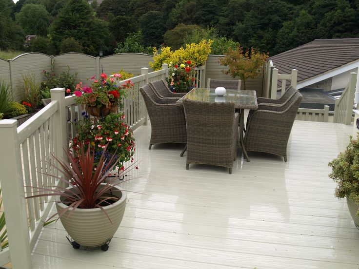 Designed to last; no sanding, painting, varnishing or treatments. Fensys plastic decking is water and rot proof.