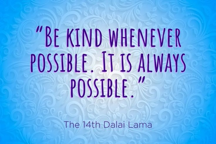 The world needs a little bit more compassion and kindness