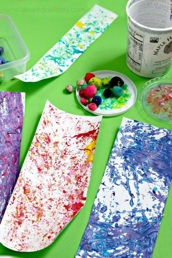 Shaken Container Painting: Art Project for Active Kids