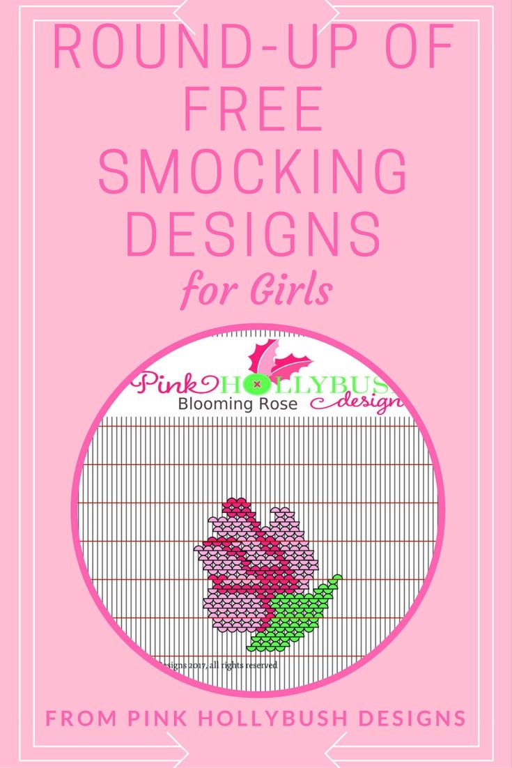 A round-up of free picture smocking designs specifically for girls.