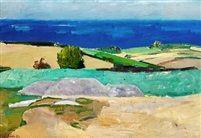 Landscape Gudhjem by Olaf Rude