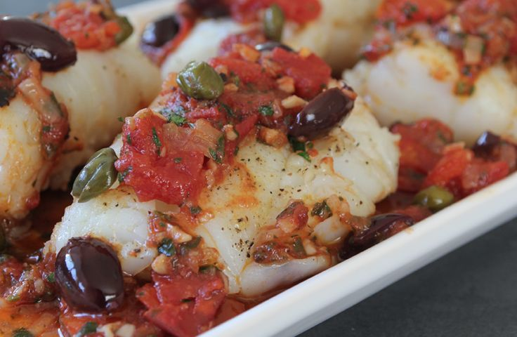 Swap high carbs for packed protein in this deliciously bold roasted cod recipe. Make this a vegetarian dish by substituting the anchovies with seaweed.