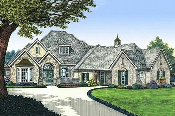 3000 Sq Ft One Story House Plan French Country House